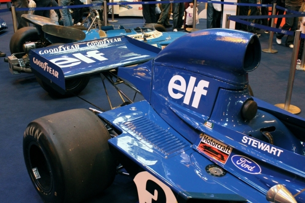 And the 1973 Tyrrell 006 that took him to his third drivers title.