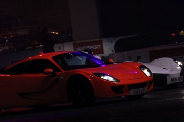 The show included supercar demonstrations...